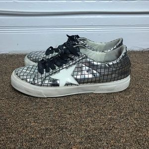 Golden goose may sneakers silver size 38